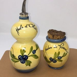 Other - Fameli oil cruet & herb jar